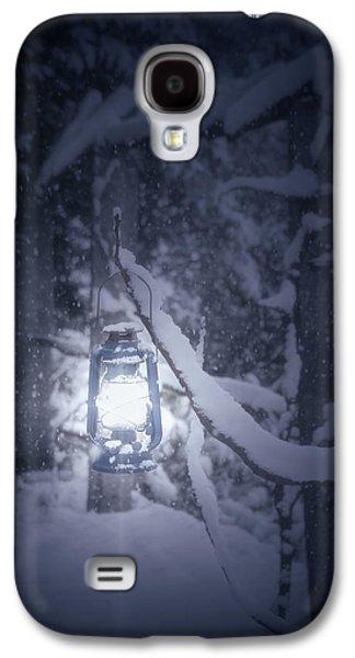 Snowy Evening Galaxy S4 Cases - Lantern In Snow Galaxy S4 Case by Joana Kruse