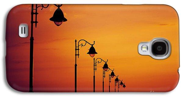 Orange Pyrography Galaxy S4 Cases - Lanterns Galaxy S4 Case by Jelena Jovanovic