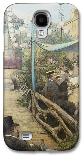 Boaters Galaxy S4 Cases - Laperitif Concert, Rue Dorsel Galaxy S4 Case by Charles Maurin