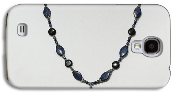 Handmade Jewelry Jewelry Galaxy S4 Cases - Lapis Lazuli and Black Onyx Lariat Necklace 3675 Galaxy S4 Case by Teresa Mucha