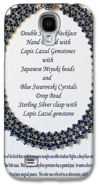 Pattern Jewelry Galaxy S4 Cases - Lapis Lazuli Gemstone Necklace Galaxy S4 Case by Jennie Breeze