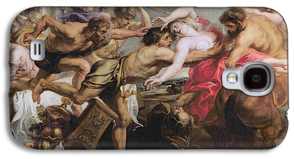 Lapiths And Centaurs Oil On Canvas Galaxy S4 Case by Peter Paul Rubens