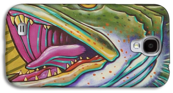 Bass Digital Art Galaxy S4 Cases - Large Mouth Fish Galaxy S4 Case by Unknown
