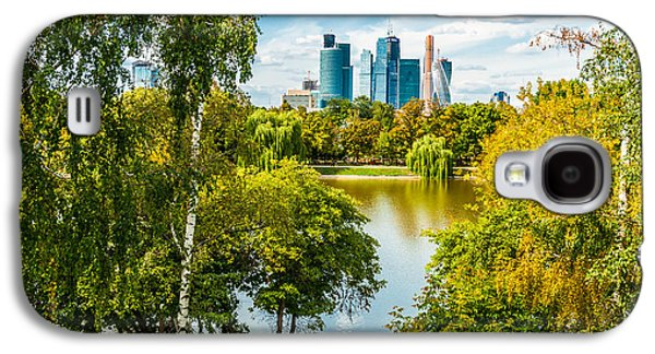 Nature Center Pond Galaxy S4 Cases - Large Novodevichy pond of Moscow - 1 Galaxy S4 Case by Alexander Senin