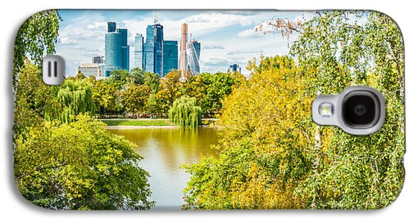 Nature Center Pond Galaxy S4 Cases - Large Novodevichy pond of Moscow - 4 Galaxy S4 Case by Alexander Senin