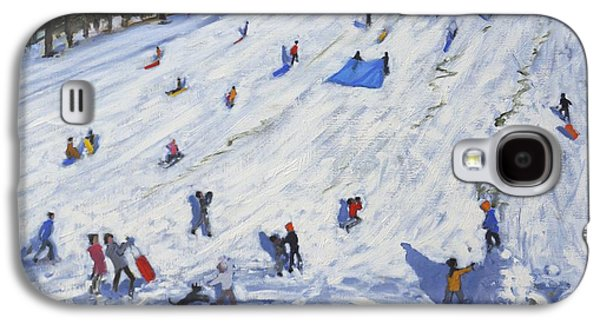 Sledge Galaxy S4 Cases - Large snowman  Chatsworth Galaxy S4 Case by Andrew Macara