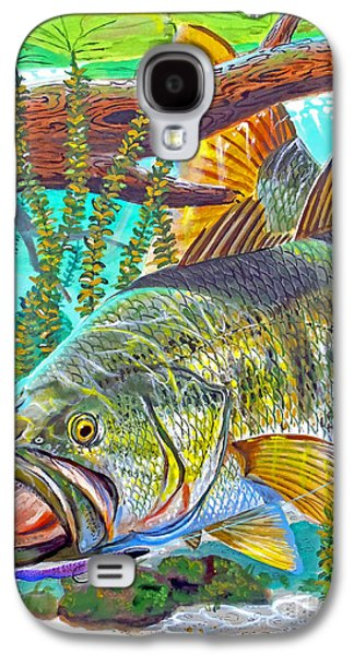 Wilderness Paintings Galaxy S4 Cases - Largemouth Bass Galaxy S4 Case by Carey Chen