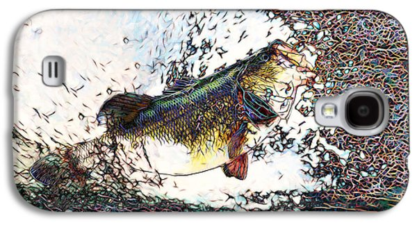 Bass Digital Art Galaxy S4 Cases - Largemouth Bass p180 Galaxy S4 Case by Wingsdomain Art and Photography