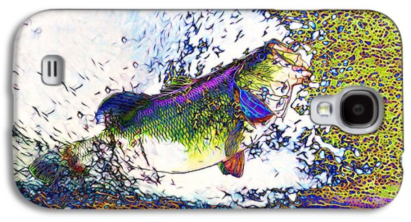 Bass Digital Art Galaxy S4 Cases - Largemouth Bass p68 Galaxy S4 Case by Wingsdomain Art and Photography