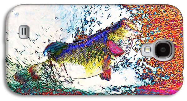 Bass Digital Art Galaxy S4 Cases - Largemouth Bass Galaxy S4 Case by Wingsdomain Art and Photography