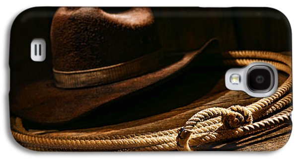 Cowboy Photographs Galaxy S4 Cases - Lariat and Hat Galaxy S4 Case by Olivier Le Queinec
