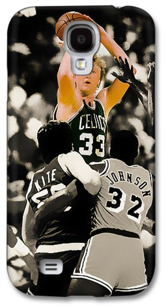 Larry Bird Galaxy S4 Cases - Larry Bird Galaxy S4 Case by Brian Reaves