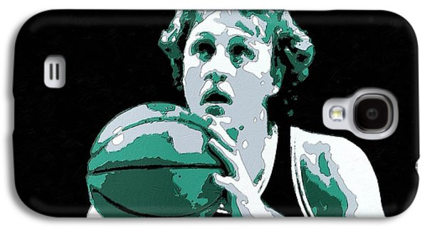 Larry Bird Galaxy S4 Cases - Larry Bird Poster Art Galaxy S4 Case by Florian Rodarte