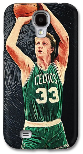 Boston Celtics Galaxy S4 Cases - Larry Bird Galaxy S4 Case by Taylan Soyturk
