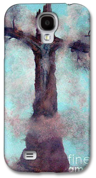 Religious Pastels Galaxy S4 Cases - Las Cruces New Mexico Art Paintings Galaxy S4 Case by Alberto Thirion