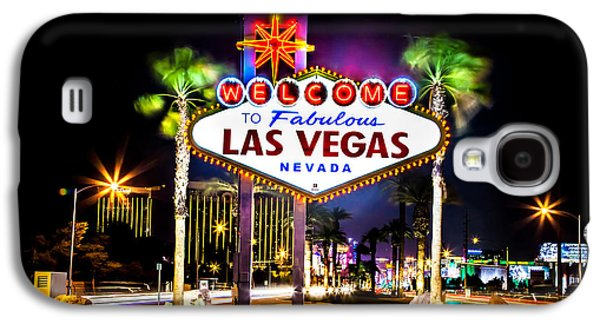 Lounge Galaxy S4 Cases - Las Vegas Sign Galaxy S4 Case by Az Jackson