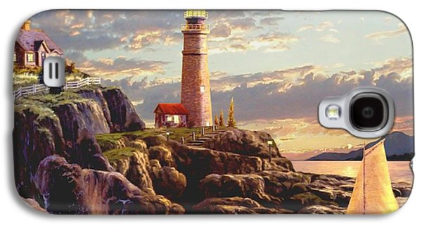 Sailboats In Harbor Galaxy S4 Cases - Last Light  Galaxy S4 Case by Ronald Chambers