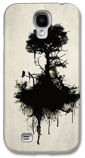 Dark Digital Art Galaxy S4 Cases - Last Tree Standing Case Galaxy S4 Case by Nicklas Gustafsson