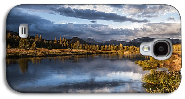 Cloudy Day Galaxy S4 Cases - Late Afternoon on the Tuolumne River Galaxy S4 Case by Cat Connor