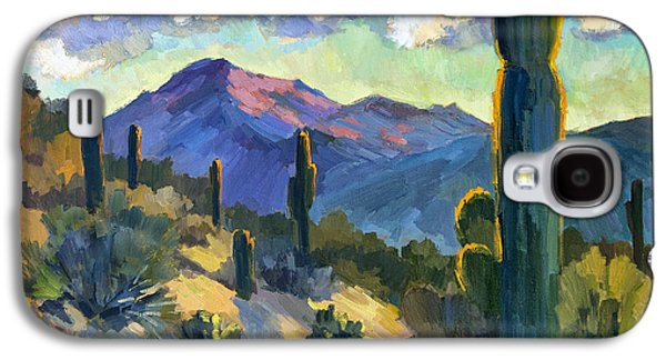 Country Scenes Galaxy S4 Cases - Late Afternoon Tucson Galaxy S4 Case by Diane McClary