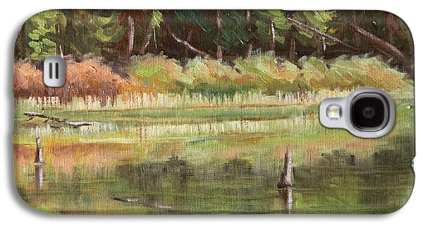 Alga Paintings Galaxy S4 Cases - Late Summer Algae Galaxy S4 Case by Cheryl Bloomfield