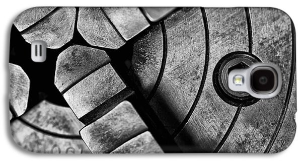 Machinery Galaxy S4 Cases - Lathe Chuck Black and White Galaxy S4 Case by Wilma  Birdwell
