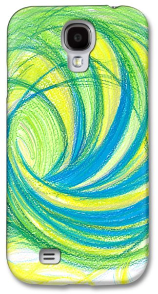 Thought Drawings Galaxy S4 Cases - Launch yourself on every wave Galaxy S4 Case by Kelly K H B