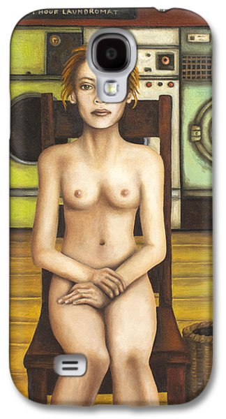 Laundry Paintings Galaxy S4 Cases - Laundry Day 5 Galaxy S4 Case by Leah Saulnier The Painting Maniac