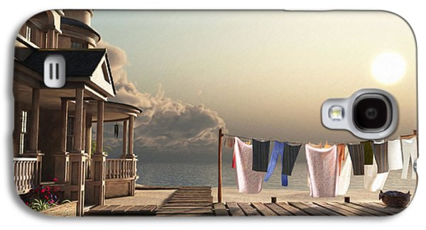 Laundry Galaxy S4 Cases - Laundry Day Galaxy S4 Case by Cynthia Decker