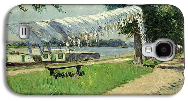 Laundry Paintings Galaxy S4 Cases - Laundry Drying Galaxy S4 Case by Gustave Caillebotte