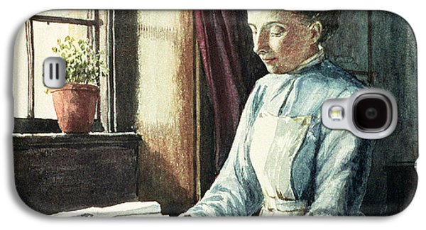 Laundry Paintings Galaxy S4 Cases - Laundry Maid Galaxy S4 Case by English School