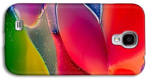 Bright Colors Glass Art Galaxy S4 Cases - Lava Lamp Galaxy S4 Case by Omaste Witkowski