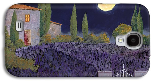 Evening Paintings Galaxy S4 Cases - Lavanda Di Notte Galaxy S4 Case by Guido Borelli
