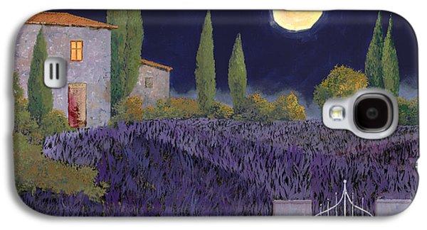 Night Paintings Galaxy S4 Cases - Lavanda Di Notte Galaxy S4 Case by Guido Borelli