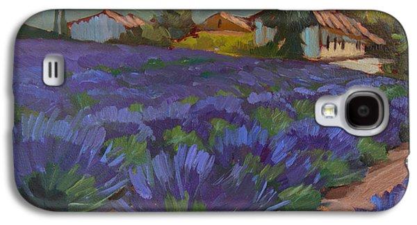 Sunflower Field Galaxy S4 Cases - Lavandin en Fleur Galaxy S4 Case by Diane McClary
