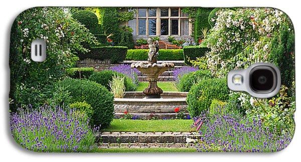 Garden Scene Galaxy S4 Cases - Lavender Country Garden Galaxy S4 Case by Gill Billington