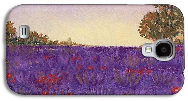 Violet Galaxy S4 Cases - Lavender Evening Galaxy S4 Case by Anastasiya Malakhova