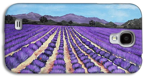 Landscape Posters Galaxy S4 Cases - Lavender Field in Provence Galaxy S4 Case by Anastasiya Malakhova