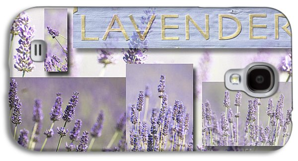 Waterscape Mixed Media Galaxy S4 Cases - Lavender Fields Purple Pink Collage Galaxy S4 Case by Anahi DeCanio - ArtyZen Studios