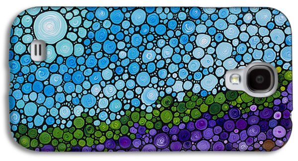 Abstract Landscape Galaxy S4 Cases - Lavender Fields - France French Landscape Art Galaxy S4 Case by Sharon Cummings