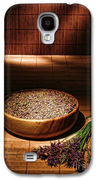 Dried Photographs Galaxy S4 Cases - Lavender Flowers and Seeds Galaxy S4 Case by Olivier Le Queinec