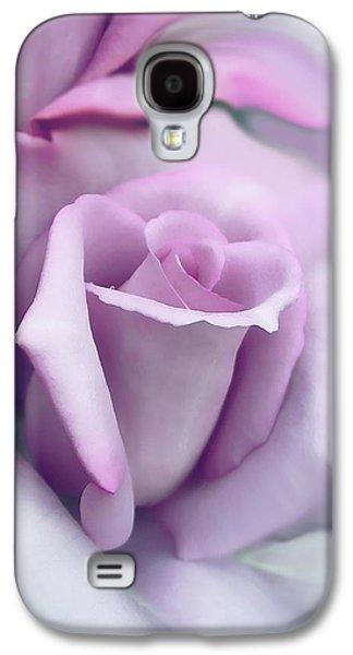 Lavender Rose Flower Portrait Galaxy S4 Case by Jennie Marie Schell