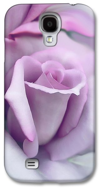 Blooms Galaxy S4 Cases - Lavender Rose Flower Portrait Galaxy S4 Case by Jennie Marie Schell