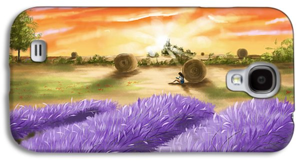 Digital Galaxy S4 Cases - Lavender Galaxy S4 Case by Veronica Minozzi
