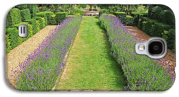 Garden Scene Galaxy S4 Cases - Lavender Walk Galaxy S4 Case by Gill Billington