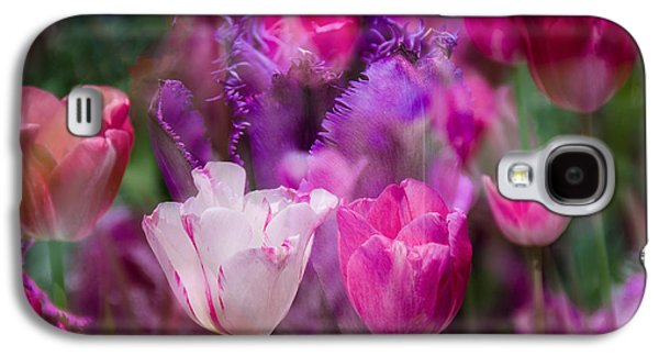 Abstract Digital Photographs Galaxy S4 Cases - Layers of Tulips Galaxy S4 Case by Penny Lisowski