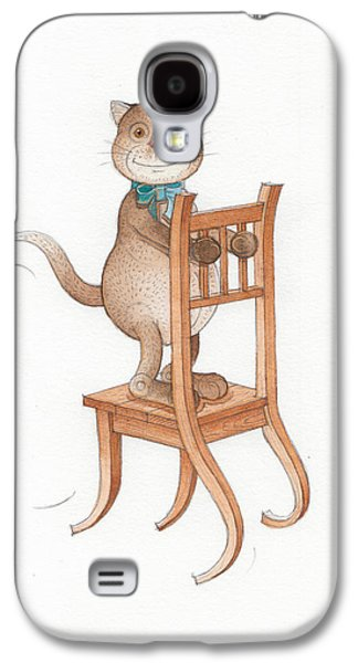 Chair Drawings Galaxy S4 Cases - Lazy Cats08 Galaxy S4 Case by Kestutis Kasparavicius