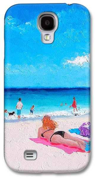 Beach Towel Galaxy S4 Cases - Lazy Day Galaxy S4 Case by Jan Matson