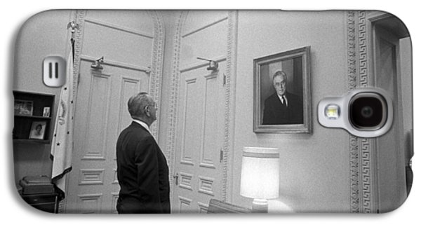 Lbj Looking At Fdr Galaxy S4 Case by War Is Hell Store