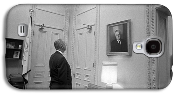 Democrats Galaxy S4 Cases - LBJ Looking At FDR Galaxy S4 Case by War Is Hell Store